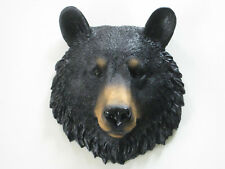 SMALL BLACK BEAR head WALL MOUNT Decoration LODGE CABIN Log