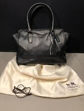 Coach Womens Purse/Handbag Official No. D1273-19890 Black Leather Interior