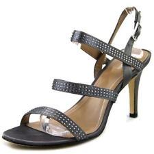 Sandalias con tiras de mujer de color principal gris de lona