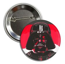 "STAR WARS 1"" Button Pin Badge DARTH VADER James Earl Jones Andy Warhol Red NEW"