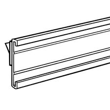 "Stick on C Channel Insert Strip, 48"" Adhesive Wood Shelf Upc Label Holder 10 pk"