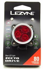 Lezyne Zecto Drive Bicycle Taillight, Black, 80 Lumens