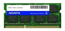 RAM ADATA AM1L16BC8R2-B1QS - 8GB (1x8GB) 1600Mhz PC3-12800S DDR3-1600 204-Pin