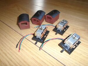 Collection of Point Motors in Huts for Hornby OO Gauge Sets