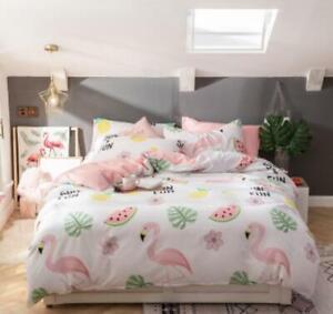 3D Flamingo Watermelon ZHUB3230 Bed Pillowcases Quilt Duvet Cover Queen King Zoe