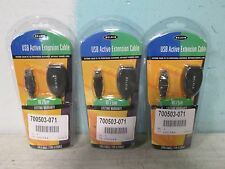 """*BNIB * LOT OF 3 """"BELKIN"""" 16'/5M TYPE""""A"""" MALE- FEMALE USB ACTIVE EXTENSION CABLE"""