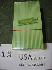 1 Box MOON GREEN 1.25 Cigarette Rolling Papers  40 leaves/pack 77x45mm USA HEMP