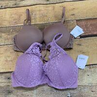 Auden Bra Size 32D Lot Of 2 Brand New NWT E226