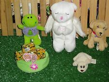 TY BLESSED BEAR & FURREAL FRIENDS BISCUIT & BUILD A BEAR FROG