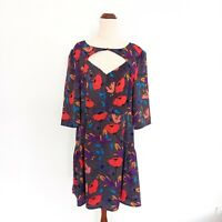 Portmans Size 16 Floral Print Colourful Lightweight Short Sleeve Dress Women's