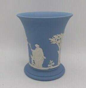 "Wedgwood Blue & White Jasperware 4"" Tall Vase"