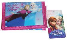 """Frozen Elsa e Anna WOMEN'S blu e rosa Disney """"Mia sorella IL MIO EROE"""" Portafoglio Nuovo"""