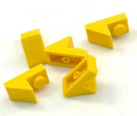 Lego 5 New Yellow Slope 45 2 x 1 with 2/3 Cutout Sloped Pieces