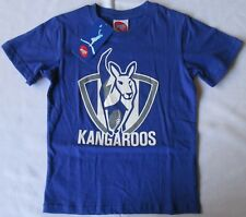 AFL Kangaroos T Shirt Top Licensed Official Footy Kids Cotton Licensed Sz 6 BNWT
