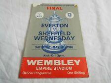 More details for wembley final programme-everton v sheffield wednesday 14/05/1966