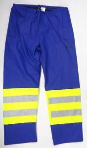 Sioen 6350 Flexothane Blue Hi Vis Reflective Waterproof Trousers C6 SFT1