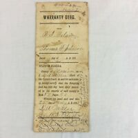 Real Estatate Property Deed Marion County Florida 1893 Post Civil War Antique