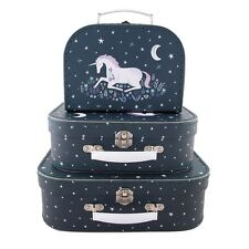 Set di 3 STARLIGHT UNICOR decorativi MINI VALIGETTE PARTY Unicorno amanti