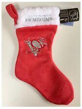 "Pittsburgh Penguins NHL Ice Hockey Logo Christmas Room Glitter 17"" Stocking"