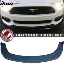 Fits 15-17 Ford Mustang Front Bumper Lip Under Splitter Unpainted PP