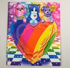 Lisa Frank Puppy Love 2 Pocket Portfolio Folder with 3 Metal Fasteners