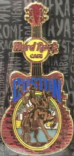 Hard Rock Cafe BOSTON 2015 City Tee T-Shirt GUITAR Series V15 PIN on CARD #86231