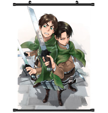 4172 Anime Attack on Titan Levi Eren Home Decor Poster Wall Scroll cosplay