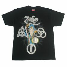 """Vintage Led Zeppelin """"Wizard"""" T-Shirt Zoso Jimmy Page Robert Plant"""