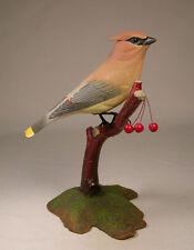 Cedar Waxwing Orig Backyard Bird Carvings/Birdhug