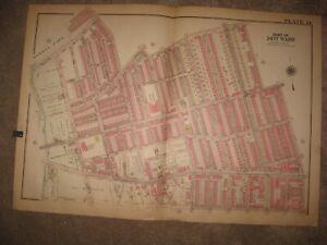 HUGE ANTIQUE 1927 WARD 34 PHILADELPHIA PENNSYLVANIA HANDCLR MAP SCHOOLS CHURCHES