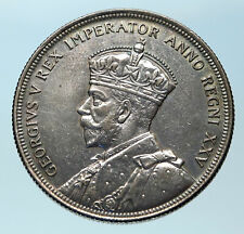 1935 CANADA under UK King GEORGE V Voyagers Genuine Silver Dollar Coin i83792
