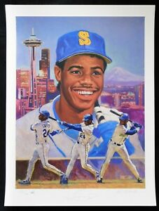 Ken Griffey Jr. Seattle Mariners Signed 18x24 Lithograph /500 JSA Authenticated