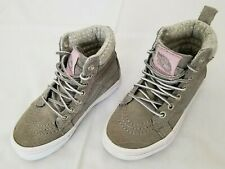 fe6bb64229 Kids Size 10.5 Grey Vans Suede Leather High Top Casual Shoes 721356 preowned