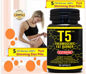 100% Pure Strongest WEIGHT Loss FAT BURNER DIET Pills Cpsules