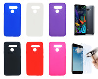 """Case Cover Gel TPU Silicone For LG K50 (4G) 6.26"""" + Optional Protector"""