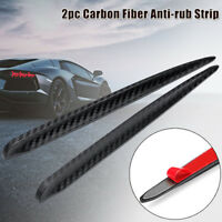 Universal Auto Carbon Fiber Anti-rub Strip Bumper Body Corner Protector