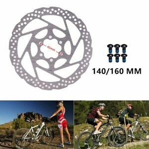 140/160mm Steel Brake Disc Rotor For MTB Bicycle Mountain Bike With 6 Bolts New