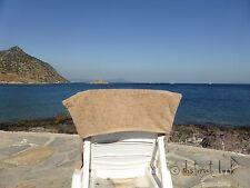 1 Blue & 1 Mocha Non Slip Fold Over Sun Lounger Swimming Beach Massage Towels