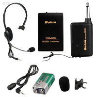 Remote Wireless Microphone Headset Mic System FM Transmitter Receiver