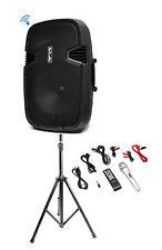 Pyle PPHP152BMU 1000 Watt 15 Inch Bluetooth  Active PA DJ Speaker System + Stand