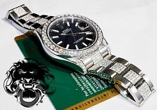 ROLEX Datejust 2 II with VS Diamond Bezel, Lugs, Band 41mm 116300