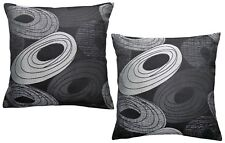 Ex-Chainstore Pack of 2 Abstract Circle/ Pebble Woven Design  Cushion Covers