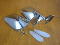 Peugeot 104 202 203 204 304 402 403 404 504 Chrome Fender Door LH RH Mirrors New