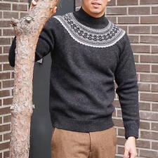 UNIQLO x J.W. Anderson JWA Fair Isle Mock Neck Long Sleeve Sweater Gray Small S