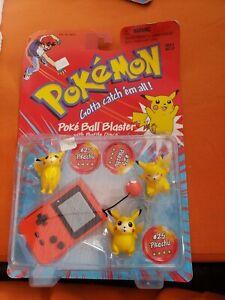 Pokemon Poke Ball Blaster/Battle Discs #25 Pikachu 1998 Hasbro Nintendo Sealed