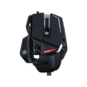 Mad Catz R.A.T. 6+ Gaming Mouse, USB, Black, 12000dpi, 11 Buttons