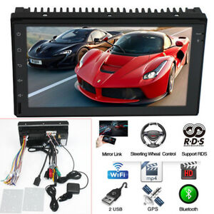 """Bluetooth 7"""" 2 DIN Android 8.0 Car MP5 Player GPS HD Touch Screen Multi-language"""