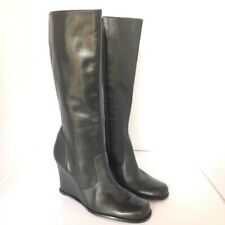 BCBGirls Tall Leather Boots Black Size 8