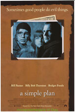 A SIMPLE PLAN MOVIE POSTER ORIGINAL 27x40 N. MINT BRIDGET FONDA BILL PAXTON