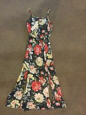 NEW WITH TAG designer navy floral  MINKPINK Maxi dress SIZE XS Long with splits